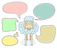 Sheep with Speech Bubbles Royalty Free Stock Images