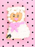 Sheep Springtime Cookie Stock Image