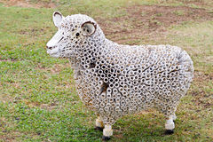 Sheep statuestanding Royalty Free Stock Photo