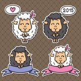 Sheep - symbol of New 2015 Year. Royalty Free Stock Image