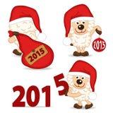 Sheep symbol of 2015 year Royalty Free Stock Image