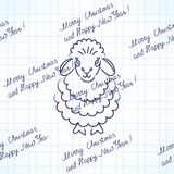 Sheep with text Royalty Free Stock Photography