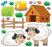Sheep theme collection 1 Stock Images