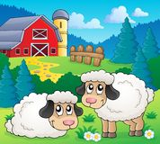 Sheep theme image 1 Royalty Free Stock Photos