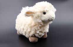 Sheep toy  on a black background Stock Photography