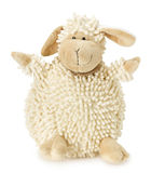 Sheep toy isolated on the white background Stock Photography