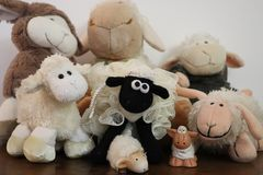 Sheep toy 01 stock photo