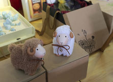 Sheep  toys Stock Photos