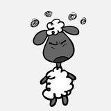 Sheep upset Royalty Free Stock Images