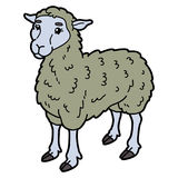 Sheep. Vector illustration of cute cartoon sheep character for children and scrap book vector illustration