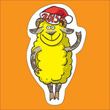 Sheep.  vector illustration. New year sheep.  vector illustration Royalty Free Stock Image