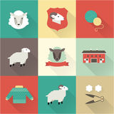 Sheep vector set Stock Photo
