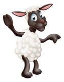 Sheep waving and pointing royalty free illustration