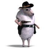 Sheep of the wild west Stock Images