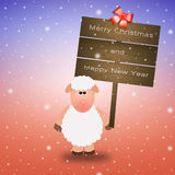 Sheep with wishes for Christmas Royalty Free Stock Photos