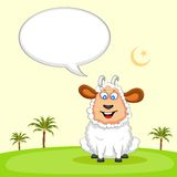 Sheep wishing Eid mubarak Royalty Free Stock Photography
