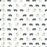 Sheep and wolf pattern. Vector pattern for web page backgrounds, postcards, greeting cards, invitations, pattern fills, surface textures. Great for children Royalty Free Stock Photos