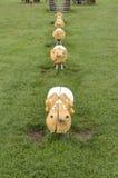 Sheep of wood Royalty Free Stock Photos