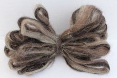 Sheep Wool Roving Stock Photo
