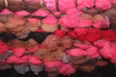 Sheep wool weaving Stock Photography