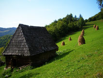 Sheepfold. A sheepfold in the Apuseni Mountains, in summer Royalty Free Stock Image