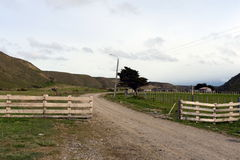Sheepfold in the village of Temaukel. Tierra Del Fuego Royalty Free Stock Photo