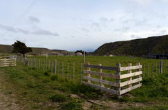 Sheepfold in the village of Temaukel. Tierra Del Fuego. Royalty Free Stock Photo