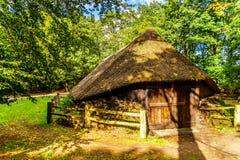 Sheepfold w Veluwe regionie w holandiach fotografia royalty free