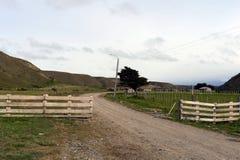 Sheepfold w wiosce Temaukel tierra del Fuego zdjęcie royalty free
