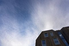 Sheepish sky in Norway. Sheepish sky at Haugesund in Norway Royalty Free Stock Photos