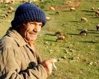 Free Sheepman And Sheep Royalty Free Stock Photo - 17843155