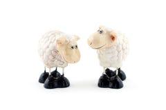 sheeps δύο Στοκ Φωτογραφίες