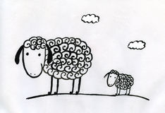Sheeps vector illustratie