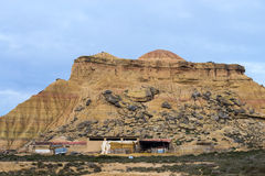 Sheeps in Bardenas Stock Images