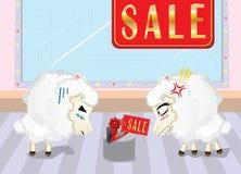 Sheeps bij het Winkelen Royalty-vrije Stock Fotografie