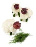 Sheeps chew trawa, rzemiosła dla dzieciaków zdjęcie royalty free