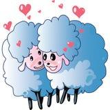 Sheeps dans l'amour illustration de vecteur