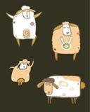 Sheeps del café fijados Imágenes de archivo libres de regalías