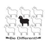 Sheeps i vektorformatet för T-tröjadesign Royaltyfri Foto
