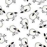 Sheeps lindos sobre el fondo blanco Imágenes de archivo libres de regalías