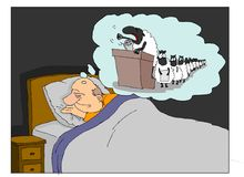 Sheeps nel sogno Immagini Stock Libere da Diritti