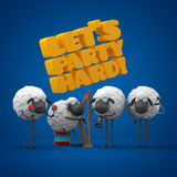 Sheeps party hard Stock Photography