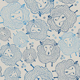 Sheeps seamless pattern. Animal background. Vector illustration Stock Photo