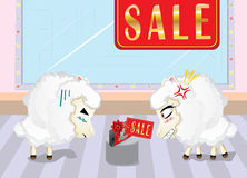 Sheeps on Shopping Royalty Free Stock Photography