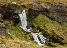 Sheeps Waterfall, Iceland. Sheeps Waterfall. Named for the sheep that like to stand behind the falls Stock Photography