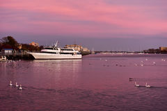 Sheepshead Bay Brooklyn. Sunset on the canal, in Sheepshead Bay, Brooklyn, New York royalty free stock image
