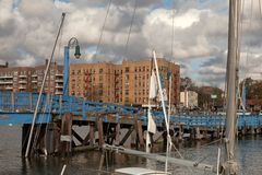 Sheepshead Bay after the Superstorm Sandy Stock Photos