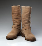 Sheepskin boots Stock Images