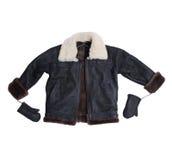 Sheepskin coat for baby boy Royalty Free Stock Image