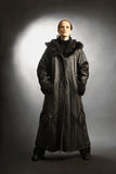 Sheepskin coat winter clothes fashion Royalty Free Stock Photo